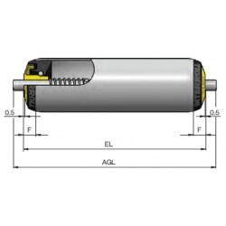 Rouleaux ACIER  RL300 AX8 RESSORT