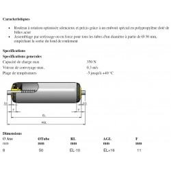 ROULEAUX PVC LONG 300  DIAM50  A RESSORT