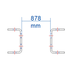 Régulateur 878 mm Brut