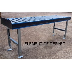 CONVOUERS à ROULEAUX ACIER LARG 450 mm